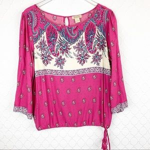 Lucky Brand Peasant Blouse Large